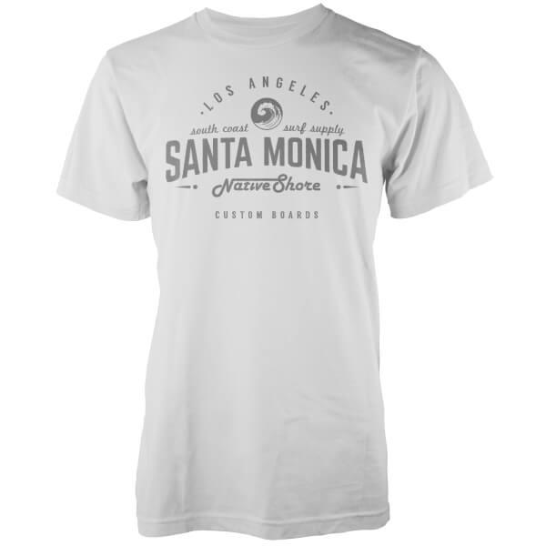 T-Shirt Homme Santa Monica Native Shore - Blanc