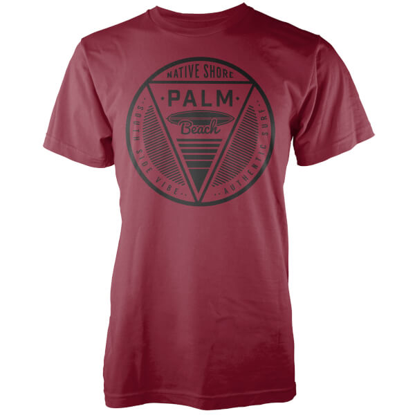 Native Shore Men's Palm Beach T-Shirt - Burgundy