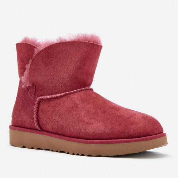 Ugg Women S Classic Cuff Mini Sheepskin Boots Garnet