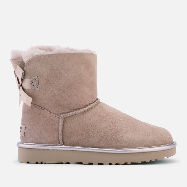 UGG Women's Mini Bailey Bow II Metallic Sheepskin Boots - Dusk: Image 1