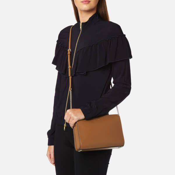 4f0469eaa53 DKNY Women s Sutton Small Top Zip Cross Body Bag - Camel  Image 3