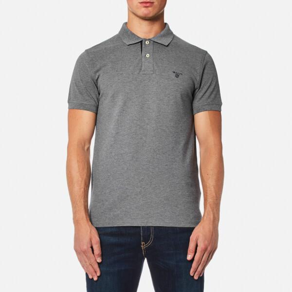 GANT Men's Contrast Collar Polo Shirt - Grey
