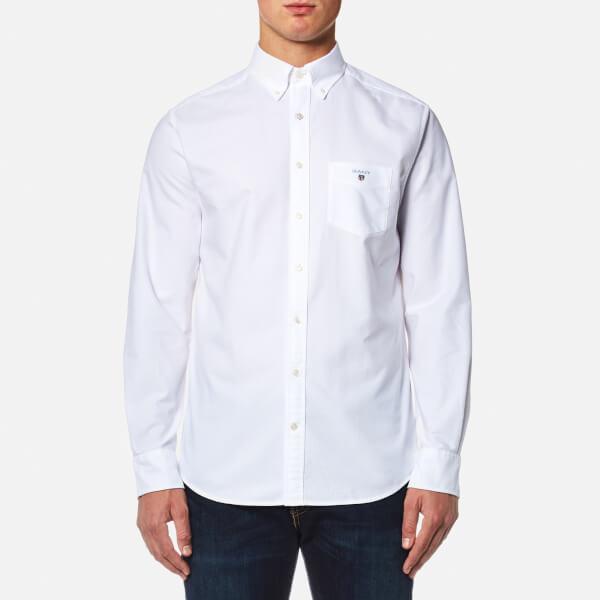 GANT Men's The Oxford Long Sleeve Shirt - White