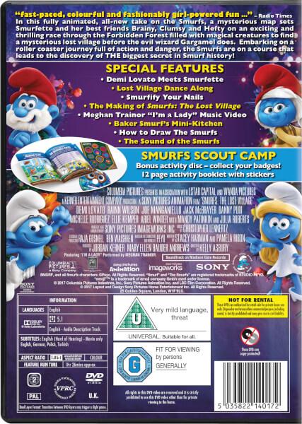 smurfs the lost village 2 disc family fun edition dvd
