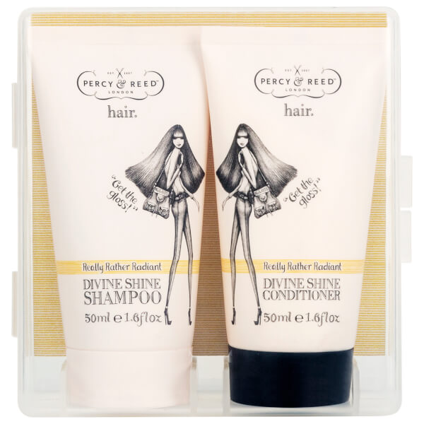 Percy & Reed to Go! Really Rather Radiant Divine Shine Shampoo and Conditioner Duo 2 x 50ml