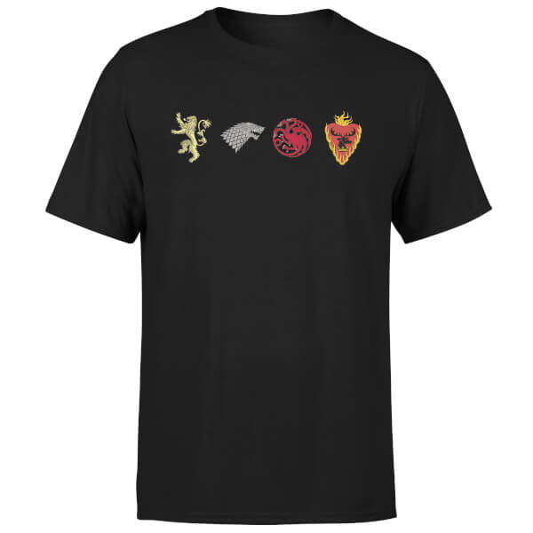Game of Thrones House Sigils Men's Black T-Shirt