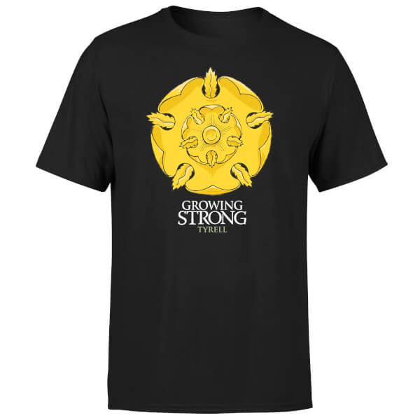 Game of Thrones Tyrell Growing Strong Men's Black T-Shirt