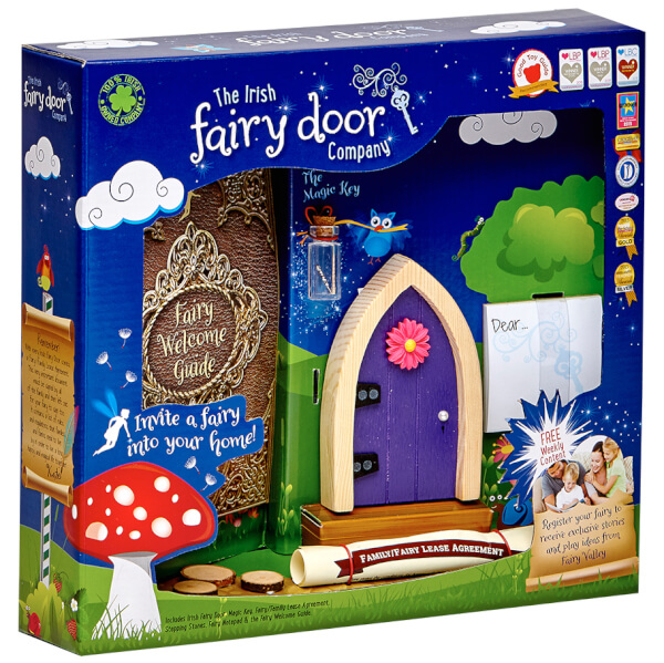 The Irish Fairy Door Company Arched Fairy Door - Purple (Slim)