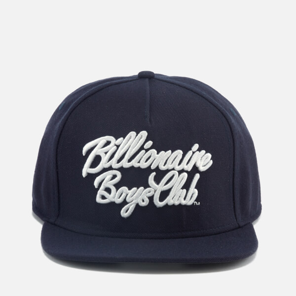 Billionaire Boys Club Men's Script Logo Snapback Cap - Navy