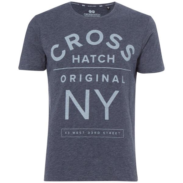Crosshatch Men's Laramie T-Shirt - Navy Marl
