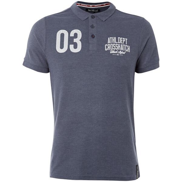 Crosshatch Men's Truman Polo Shirt - Mood Indigo Marl