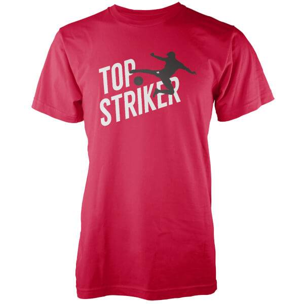 Top Striker Men's Red T-Shirt