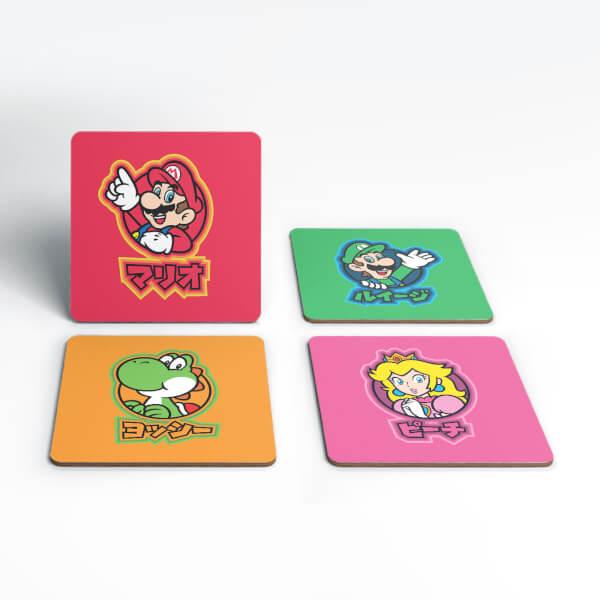 Nintendo Super Mario Good Guys Kanji Coaster Set