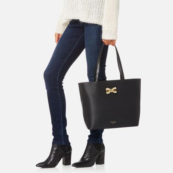 afd6853509 Ted Baker Women's Larah Looped Bow Shopper Tote Bag - Black: Image 3