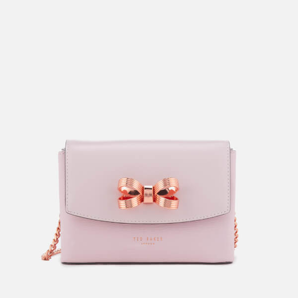 2fa321597 Ted Baker Women s Leorr Looped Bow Mini Cross Body Bag - Dusky Pink  Image 1
