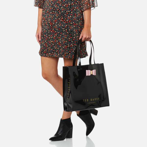 ddea032feff1 Ted Baker Women s Bethcon Bow Detail Large Icon Bag - Black  Image 3