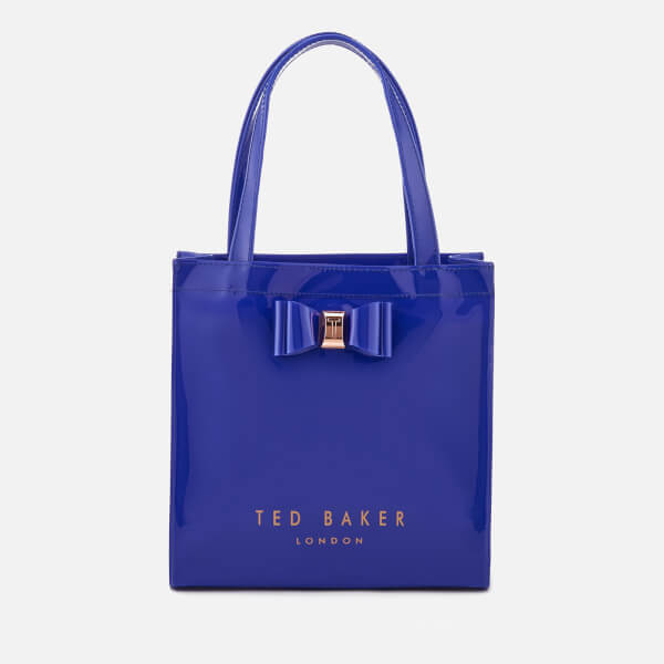 195f2b617e2f Ted Baker Women s Jenacon Bow Detail Small Icon Bag - Bright Blue  Image 1