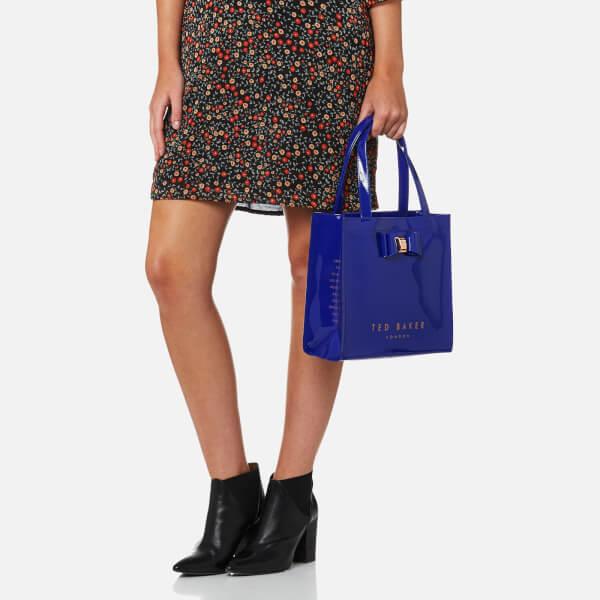 9cf2c2f5fa Ted Baker Women's Jenacon Bow Detail Small Icon Bag - Bright Blue: Image 3