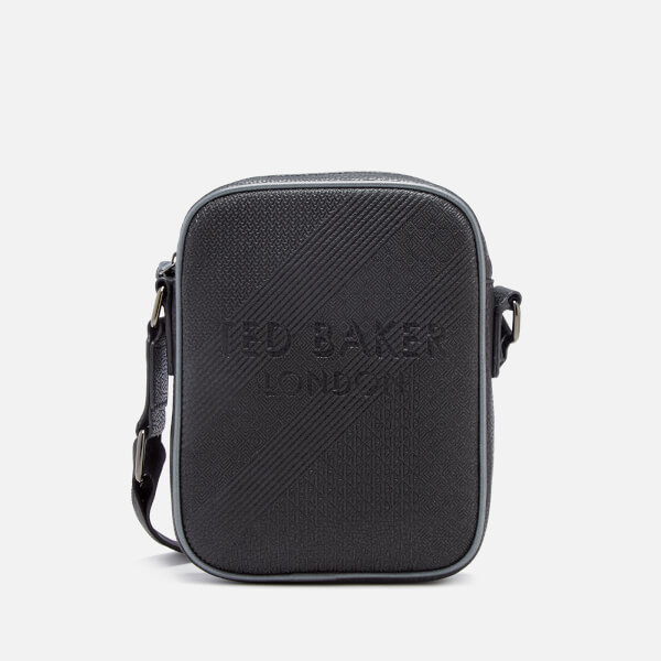 Ted Baker Men's Heliox Embossed Mini Flight Bag - Black