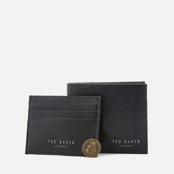 813720fa0 Ted Baker Men s Gekko Lizard Wallet and Cardholder Gift Set - Black  Image 1