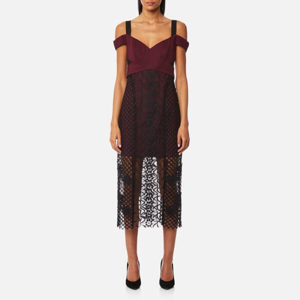Three Floor Women S Sonnet Dress Grape Black Free Uk