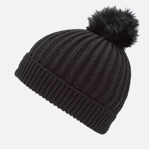 Superdry Women s Aries Sparkle Bobble Hat - Black Clothing  671f5a89a0f4