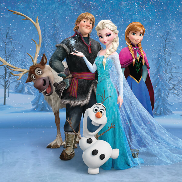 Disney Frozen Group 30 x 30cm Canvas Print