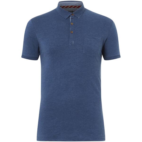 Brave Soul Men's Julius Polo Shirt - Vintage Blue Marl