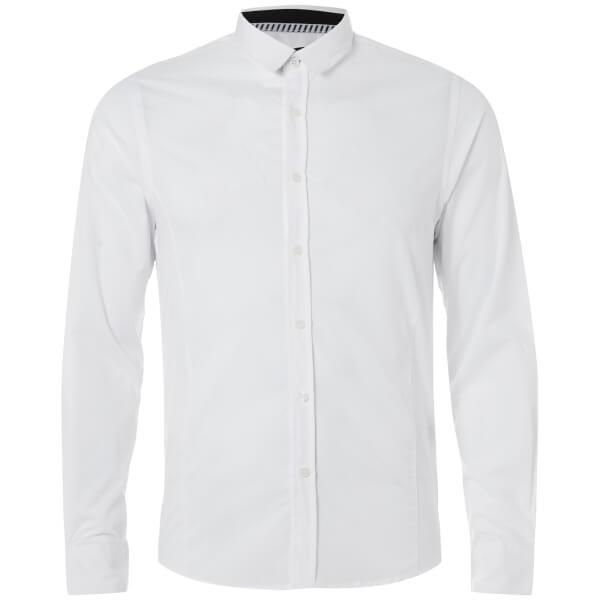 Brave Soul Men's Tudor Shirt - White