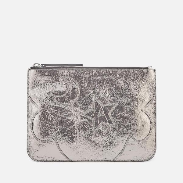 McQ Alexander McQueen Women's Loveless Large Pouch - Silver