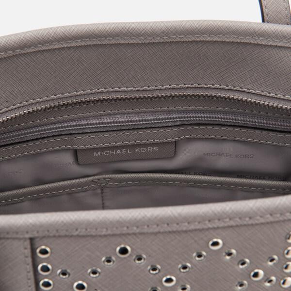 0eb4a4a32b9d MICHAEL MICHAEL KORS Women's Jet Set Top Studs Zip Tote Bag - Pearl Grey:  Image