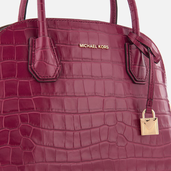 c12fafbac211 MICHAEL MICHAEL KORS Women s Mercer Large Dome Satchel - Mulberry  Image 4