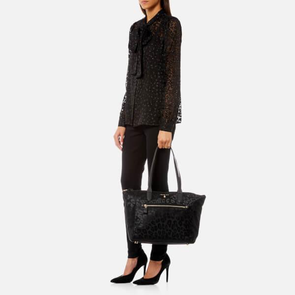 b13c33622c MICHAEL MICHAEL KORS Women s Kelsey Large Top Zip Tote Bag - Black  Image 3