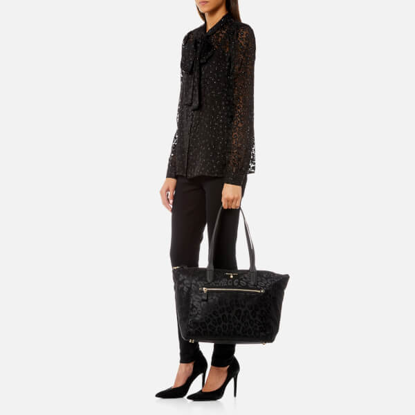 7bfc1bfb3a74 MICHAEL MICHAEL KORS Women s Kelsey Large Top Zip Tote Bag - Black  Image 3