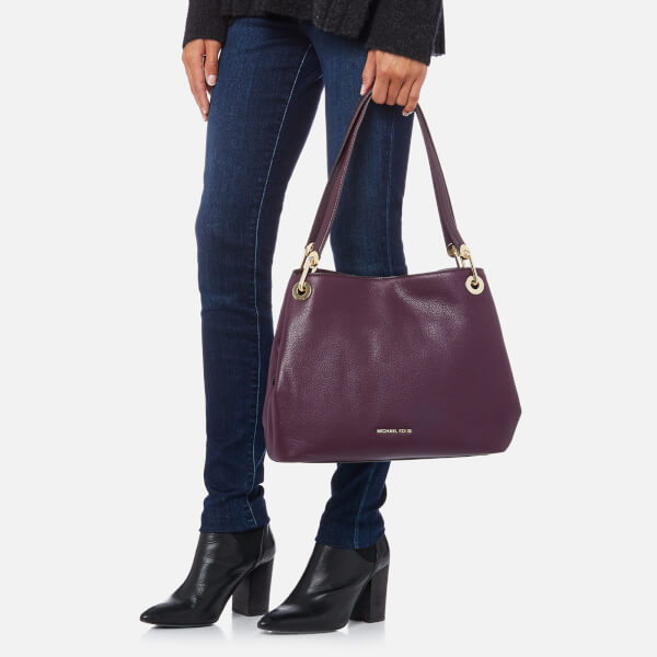 MICHAEL MICHAEL KORS Women s Raven Large Shoulder Tote Bag - Damson  Image 3 0451ac020039a