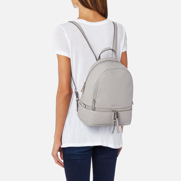25f5a82c2c64 MICHAEL MICHAEL KORS Women s Rhea Zip Medium Backpack - Pearl Grey  Image 3