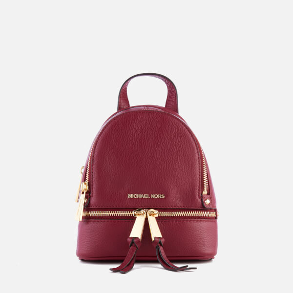 02dc4c20e799 MICHAEL MICHAEL KORS Women s Rhea Zip Extra Small Messenger Backpack -  Mulberry  Image 1