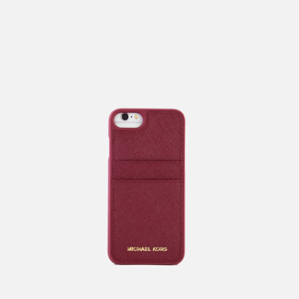 michael michael kors women 39 s leather iphone 7 cover mulberry. Black Bedroom Furniture Sets. Home Design Ideas