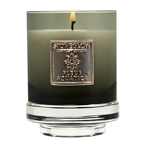 Stoneglow Metallique Collection Fleur Aquatica Candle