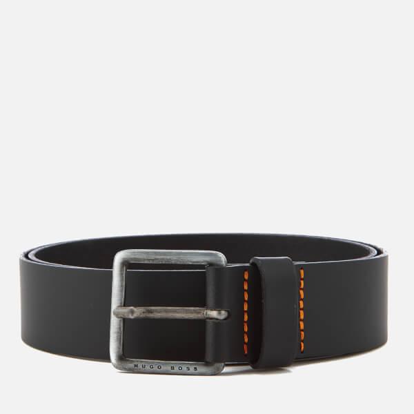 BOSS Men's Jeeko Leather Belt - Black