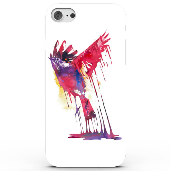 Coque iPhone & Android Aquarelle Oiseau Coloré - 4 Couleurs