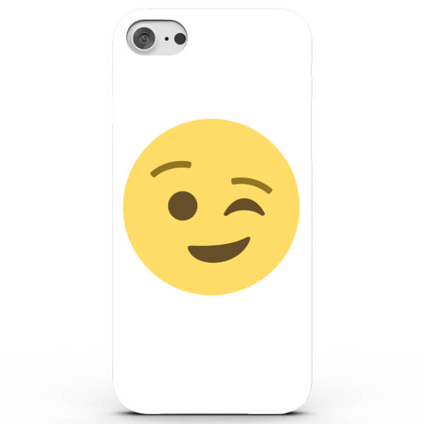 Coque iPhone & Android Emoji Clin d'Œil - 4 Couleurs