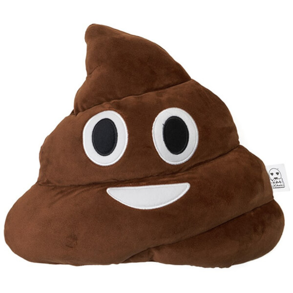 Emoji Cushion - Poo