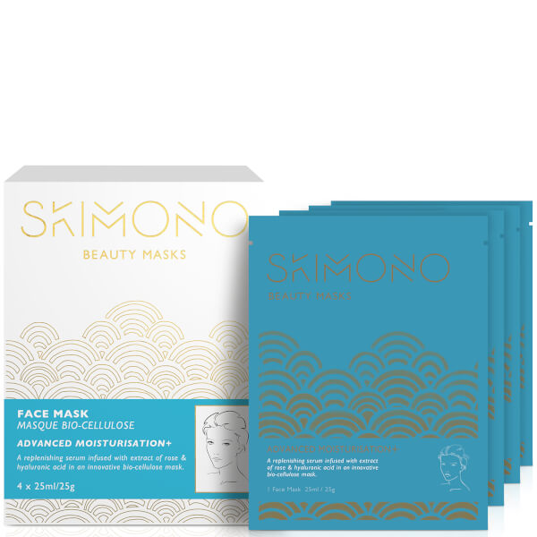 Skimono Beauty Face Mask for Advanced Moisturisation 4 x 25ml