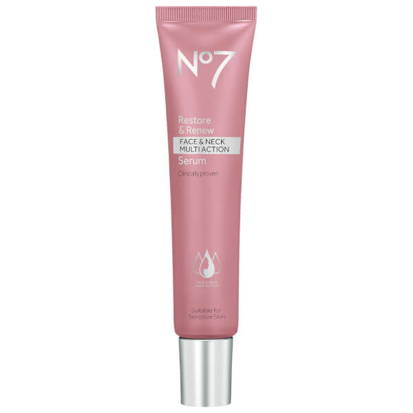 Boots No7 Restore & Renew Face & Neck Multi Action Serum 50ml