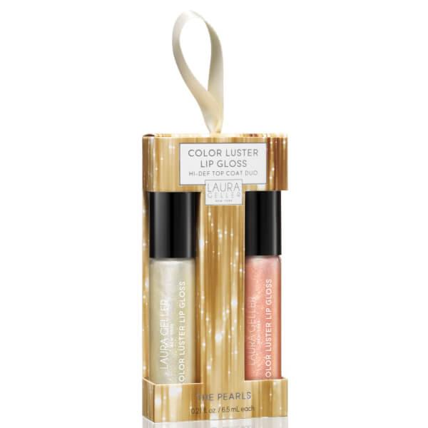 Laura Geller Color Luster Lip Gloss Hi-Def Lip Topper Duo - In the Pearls