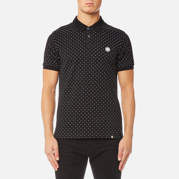 Pretty green men 39 s kompany short sleeve polka dot polo for Mens polka dot shirt short sleeve