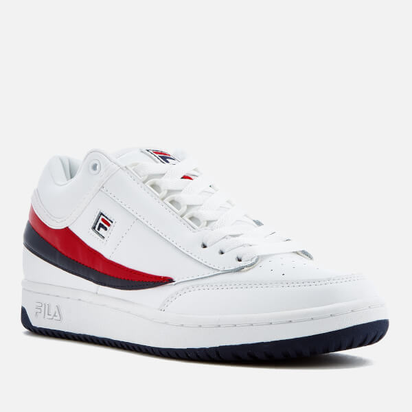 Fila T1 Mid Chaussures White/Navy/Red