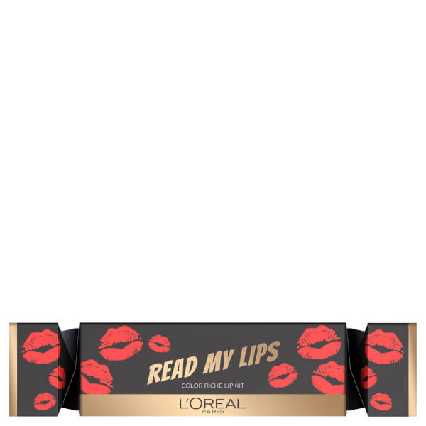 L'Oreal Paris Read My Lips Red Christmas Cracker Lip Kit