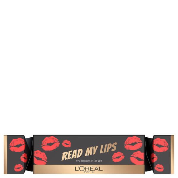 L'Oreal Paris Read My Lips Red Cracker Lip Kit